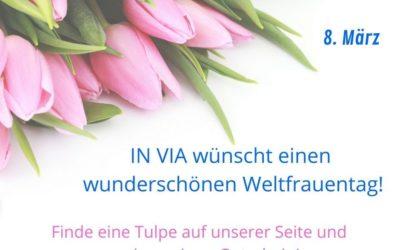 Gewinnspiel zum Weltfrauentag: Tulpenstrauß gefunden!
